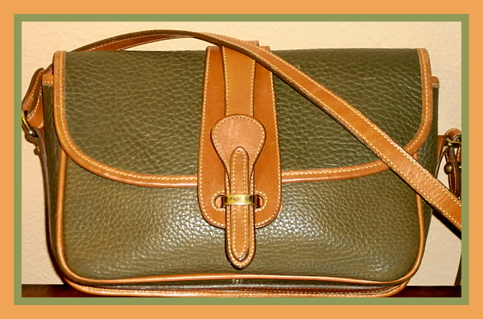 Olive Green Dooney and Bourke All Weather Leather Equestrian Bag