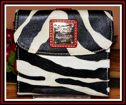 African Zebra Safari Dooney Credit Card Wallet